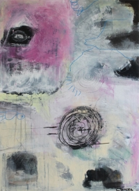 Abstrakt maleri kunst af Charlotte Tønder - Watching