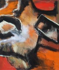 Abstrakt maleri kunst af Charlotte Tønder - Wally