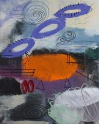 Abstrakt maleri kunst af Charlotte Tønder - Happy