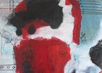 Abstrakt maleri kunst af Charlotte Tønder - Eyes starring