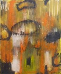 Abstrakt maleri kunst af Charlotte Tønder - Firestorm