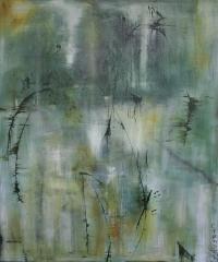 Abstrakt maleri kunst af Charlotte Tønder - Zen 1