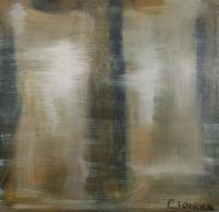 Abstrakt maleri kunst af Charlotte Tønder - Ghostly
