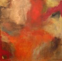 Abstrakt maleri kunst af Charlotte Tønder - Burning universe
