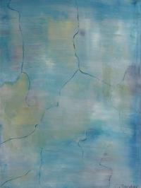 Abstrakt maleri kunst af Charlotte Tønder - Blue Colorer Map