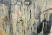 Abstrakt maleri kunst af Charlotte Tønder - Elementernes Rasen