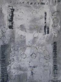 Abstrakt maleri kunst af Charlotte Tønder - Face upside Down