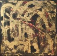Abstrakt maleri kunst af Charlotte Tønder - Ghostly-affairs