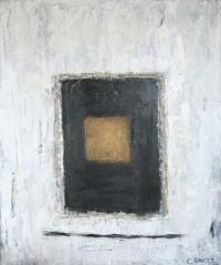 Abstrakt maleri kunst af Charlotte Tønder - Golden Window