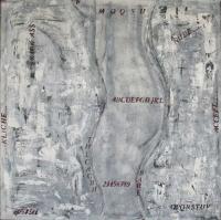 Abstrakt maleri kunst af Charlotte Tønder - Grey Mystery