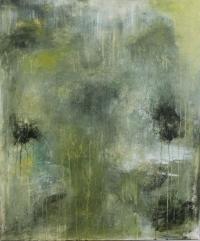 Abstrakt maleri kunst af Charlotte Tønder - Green Lake