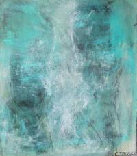 Abstrakt maleri kunst af Charlotte Tønder - Blå