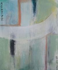 Abstrakt maleri kunst af Charlotte Tønder - Sailing