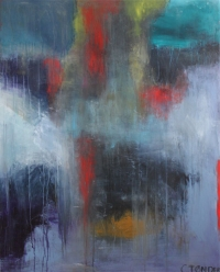 Abstrakt maleri kunst af Charlotte Tønder - Blur