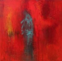 Abstrakt maleri kunst af Charlotte Tønder - Red devine