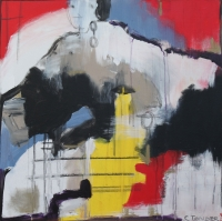 Abstrakt maleri kunst af Charlotte Tønder - Bodies