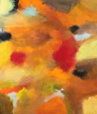 Abstrakt maleri kunst af Charlotte Tønder - Summer in Provence