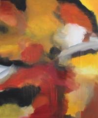 Abstrakt maleri kunst af Charlotte Tønder - On going
