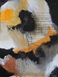 Abstrakt maleri kunst af Charlotte Tønder - Draw