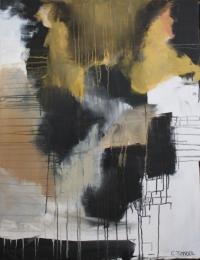 Abstrakt maleri kunst af Charlotte Tønder - Mixed Media