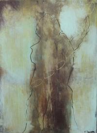 Abstrakt maleri kunst af Charlotte Tønder - Body freeze