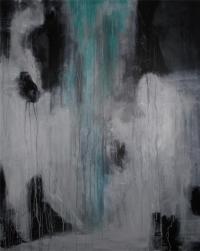 Abstrakt maleri kunst af Charlotte Tønder -  Ghosts