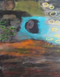 Abstrakt maleri kunst af Charlotte Tønder - Melankoli