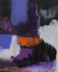 Abstrakt maleri kunst af Charlotte Tønder - Purple delight