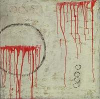 Abstrakt maleri kunst af Charlotte Tønder - Red Orgie