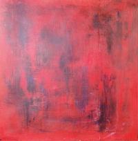 Abstrakt maleri kunst af Charlotte Tønder - Red