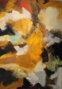 Abstrakt maleri kunst af Charlotte Tønder - Road