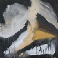 Abstrakt maleri kunst af Charlotte Tønder - Scanman