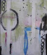 Abstrakt maleri kunst af Charlotte Tønder - Siluet