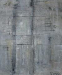 Abstrakt maleri kunst af Charlotte Tønder - Solitude