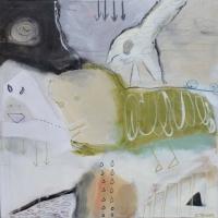 Abstrakt maleri kunst af Charlotte Tønder - World of Fun