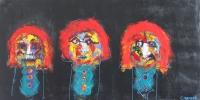 Naivistisk maleri kunst af Charlotte Tønder - Irony