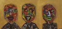Naivistisk maleri kunst af Charlotte Tønder - Angry old me