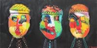 Naivistisk maleri kunst af Charlotte Tønder - Confusion