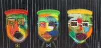 Naivistisk maleri kunst af Charlotte Tønder - Folsom
