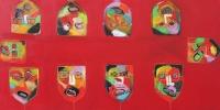 Naivistisk maleri kunst af Charlotte Tønder - Full table