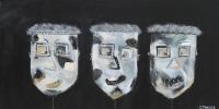 Naivistisk maleri kunst af Charlotte Tønder - Black sense