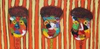 Naivistisk maleri kunst af Charlotte Tønder - Cirkus cirkus