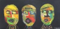 Naivistisk maleri kunst af Charlotte Tønder - Fun in black