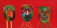 Naivistisk maleri kunst af Charlotte Tønder - Not today