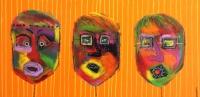 Naivistisk maleri kunst af Charlotte Tønder - Orange happiness