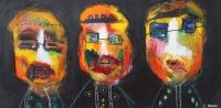 Naivistisk maleri kunst af Charlotte Tønder - Bob Dylans