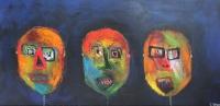 Naivistisk maleri kunst af Charlotte Tønder - WHY