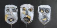 Naivistisk maleri kunst af Charlotte Tønder - Yes we are happy