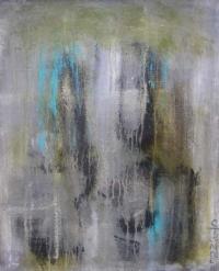 Abrakt maleri kunst af Charlotte Tønder - Running
