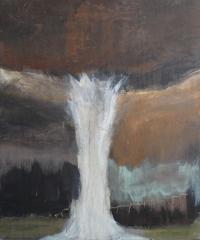 Figurativt maleri kunst af Charlotte Tønder - Geyser